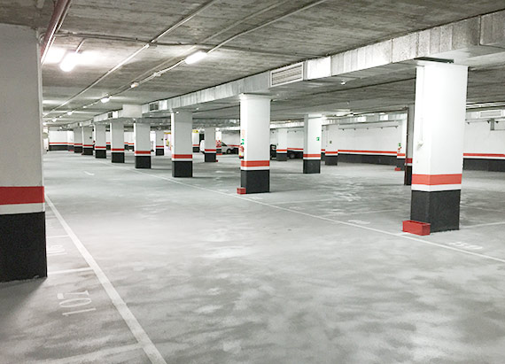 Plazas vacias parking daoiz y velarde